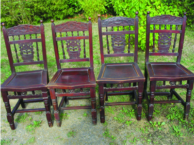 Lot 6 chaises chinoises